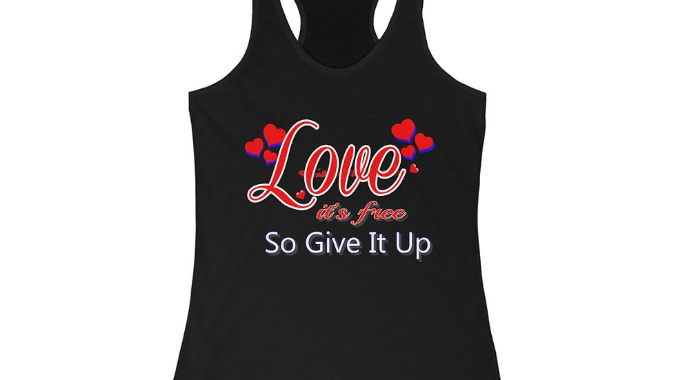 Women's Ideal Racerback Tank - Love, Its Free