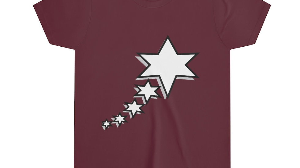 Youth Short Sleeve Tee - 6 Points 5 Stars (White)