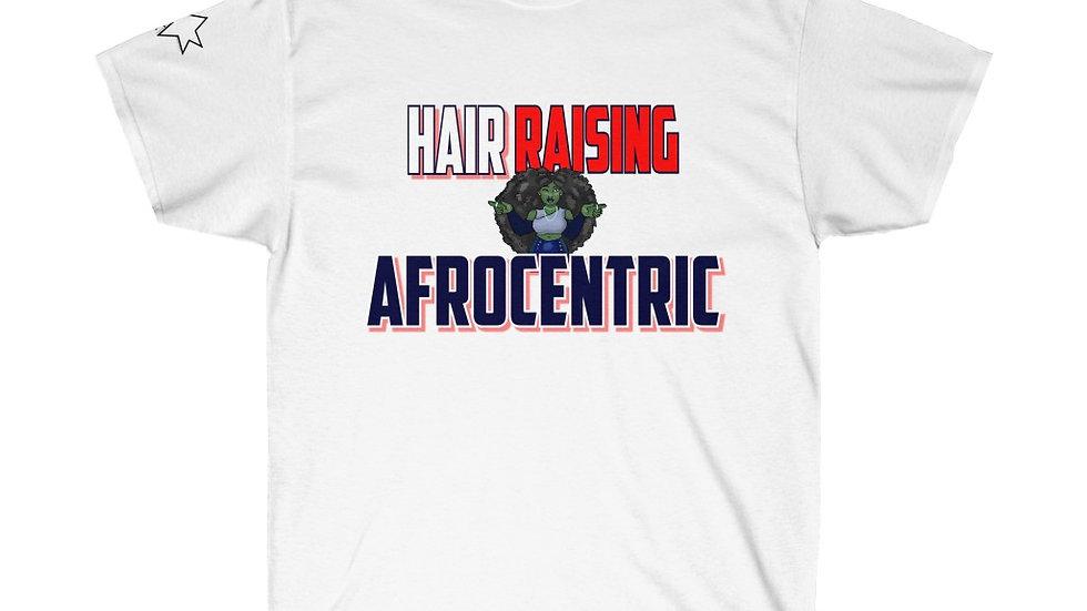 Unisex Ultra Cotton Tee - Hair Raisin g Afrocentric