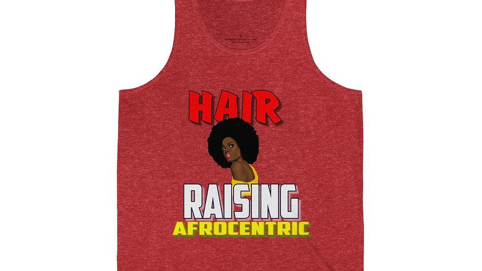 Unisex Jersey Tank - Hair raising Afrocentric V