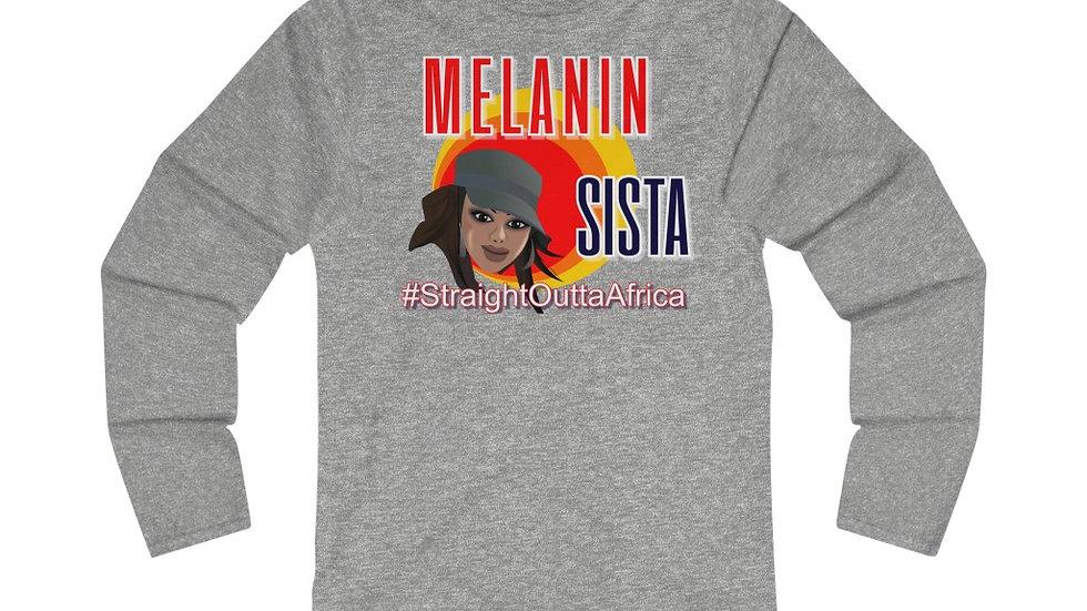 Women's Fitted Long Sleeve Tee - Melanin IV