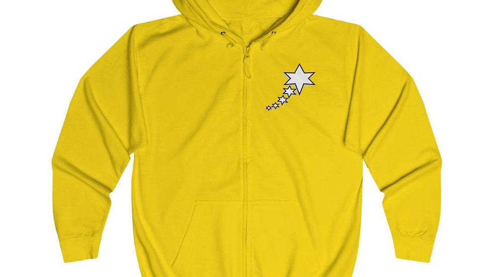 Unisex Full Zip Hoodie - 6 Points 5 Stars (White)