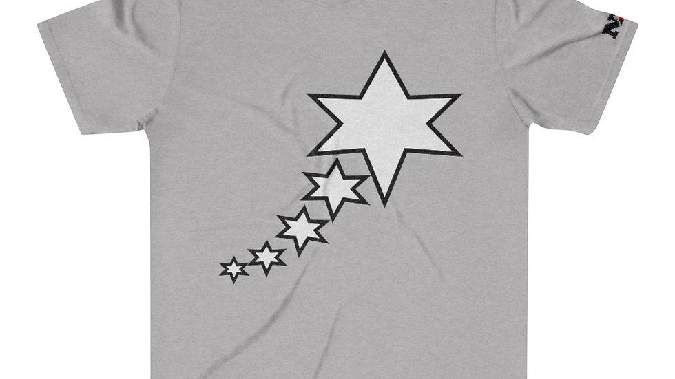 Men's Tri-Blend T-Shirt - 6 Points 5 Stars (White)