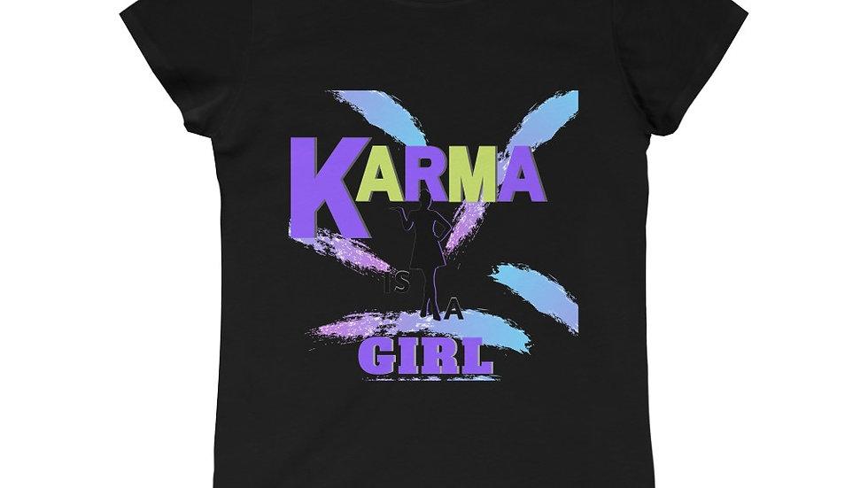 Girls Princess Tee - KARMA IS A GIRL