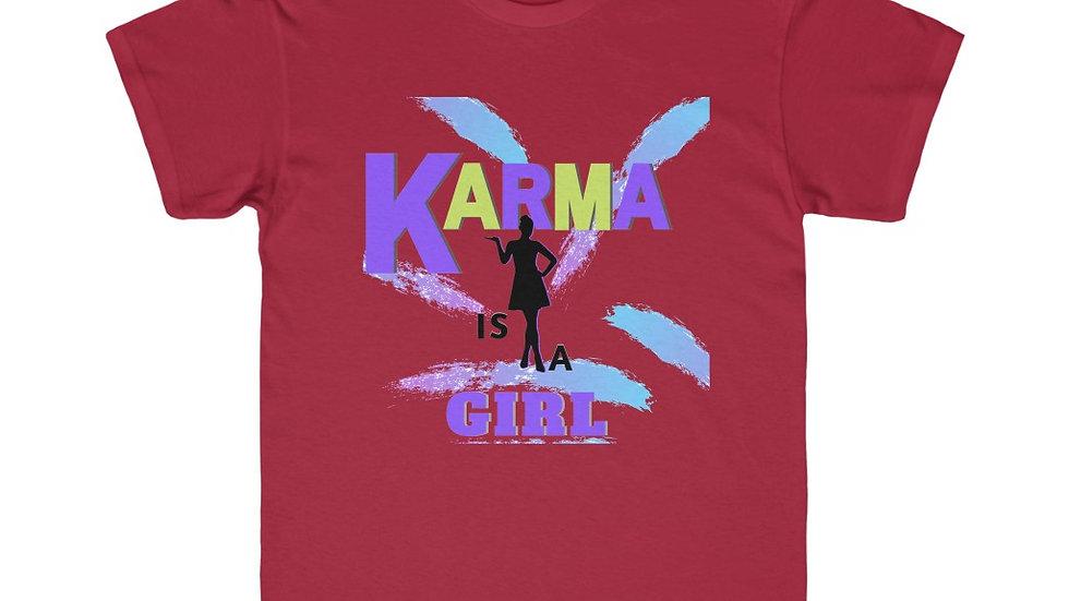 Kids Regular Fit Tee - KARMA IS A GIRL