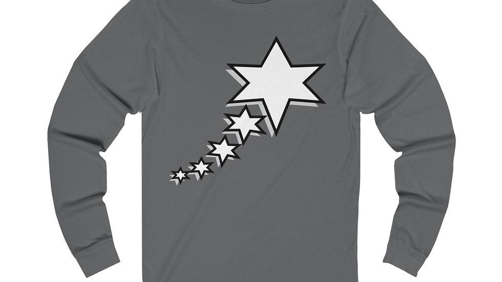 Unisex Jersey Long Sleeve Tee - 6 Points 5 Stars (White)