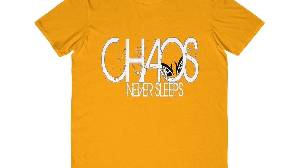 Men's Lightweight Fashion Tee - chaos never Sleeps