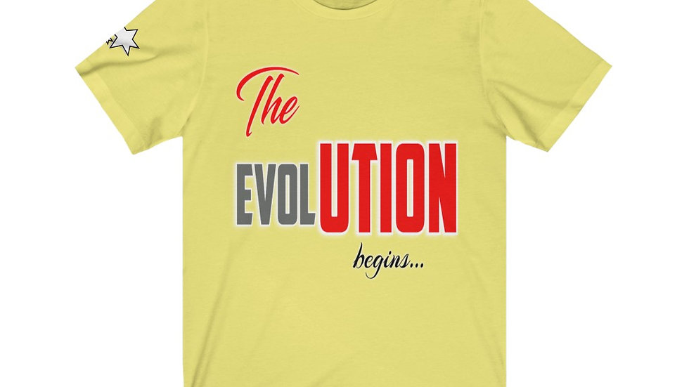 Unisex Jersey Short Sleeve Tee - the Evolution Begins