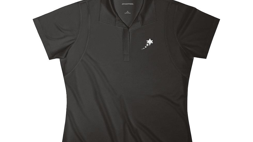 Women's Polo Shirt - 6 Points 5 Stars (White)