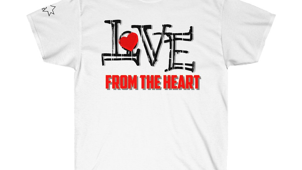 Unisex Ultra Cotton Tee - Love From the Heart