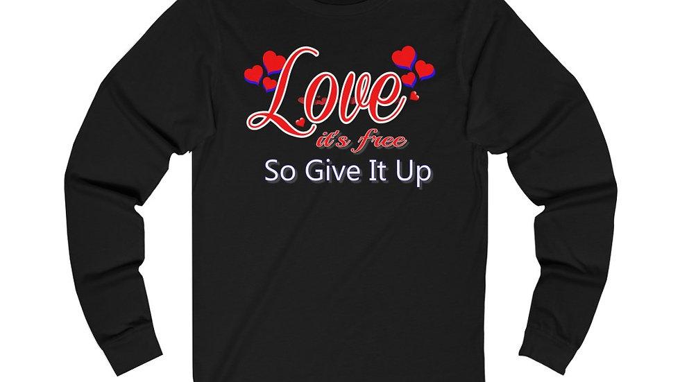Unisex Jersey Long Sleeve Tee - Love, it's Free