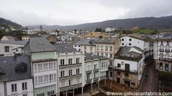 Vista de los tejados de Mondoñedo