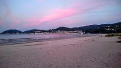 Playa de Covas Viveiro Atardecer