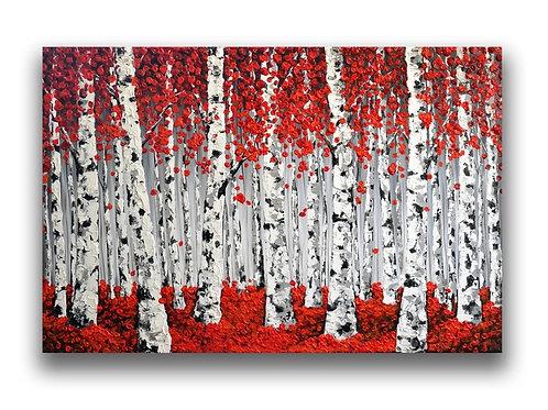 Red Birches Forest