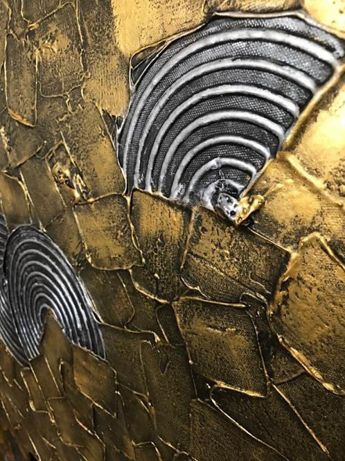 Modern Metallic Art Gold Silver