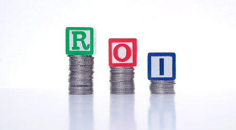 ROI or Return on Investment. word ROI wo