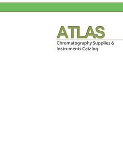 Catalogo ATLAS consumabili per cromatografia