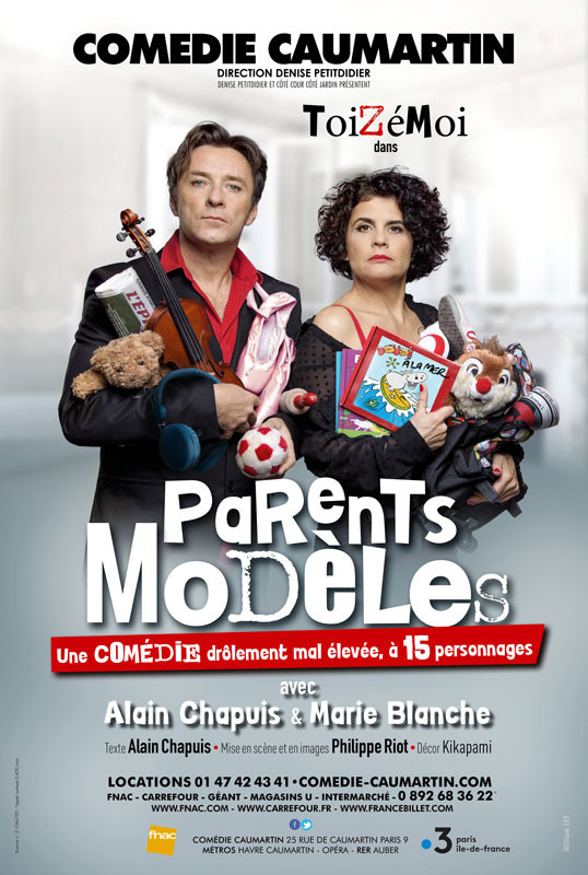 "Nouvelle Affiche pour les Toizémoi, pour le spectacle ""Parents Modèles"" - Conception, photographie et réalisation William LET © - dossier de presse, Flyers, cartons d'invitation."