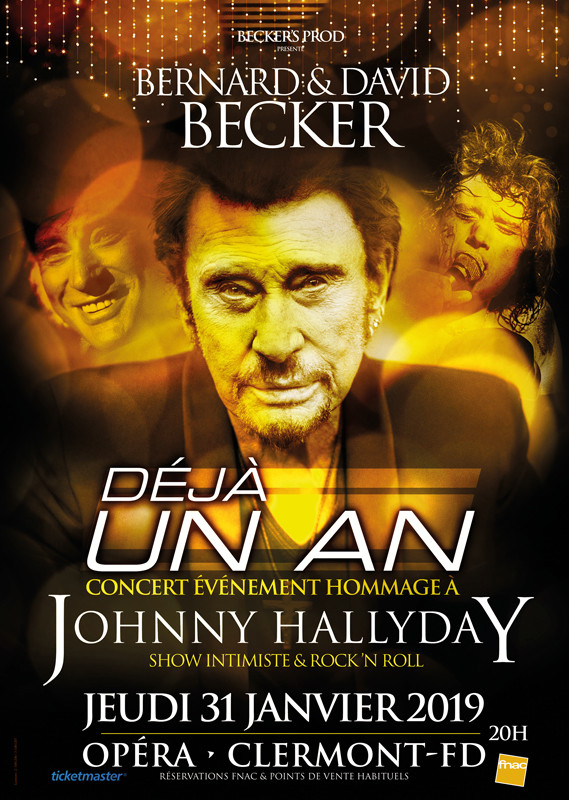 Affiche  Johnny Hallyday hommage