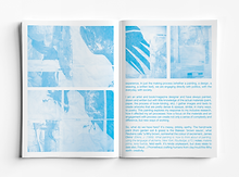 Inside pages of book showing only the cyan colour