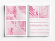 Inside pages of book showing only the magenta colour