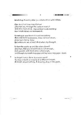 Poem based on a Rilke poem