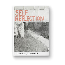 Cover for a handmade book called 'self reflection notes'