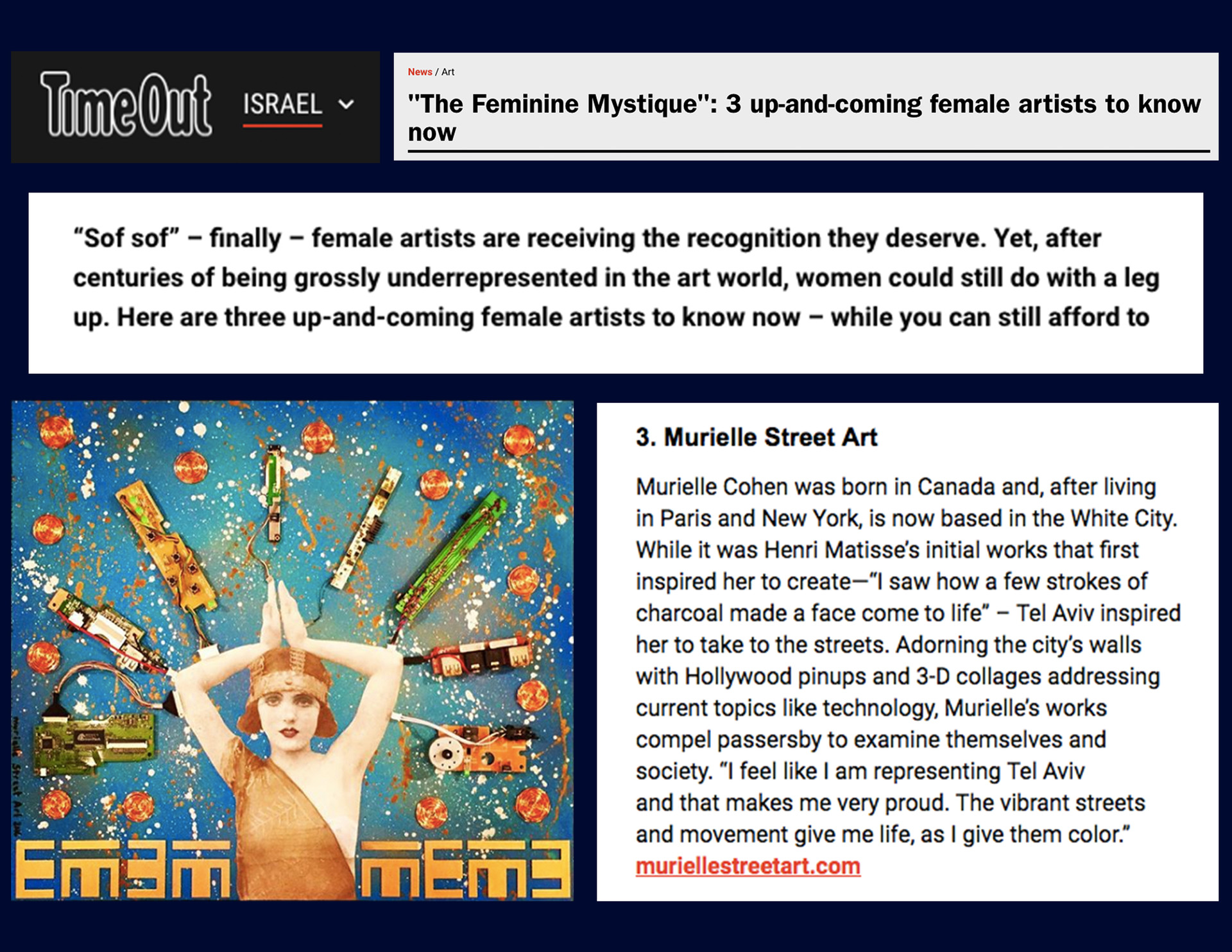https://www.timeout.com/israel/blog/the-feminine-mystique-3-up-and-coming-female-artists-to-know-now-102617