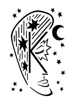 The Letter K (Moon Guy)