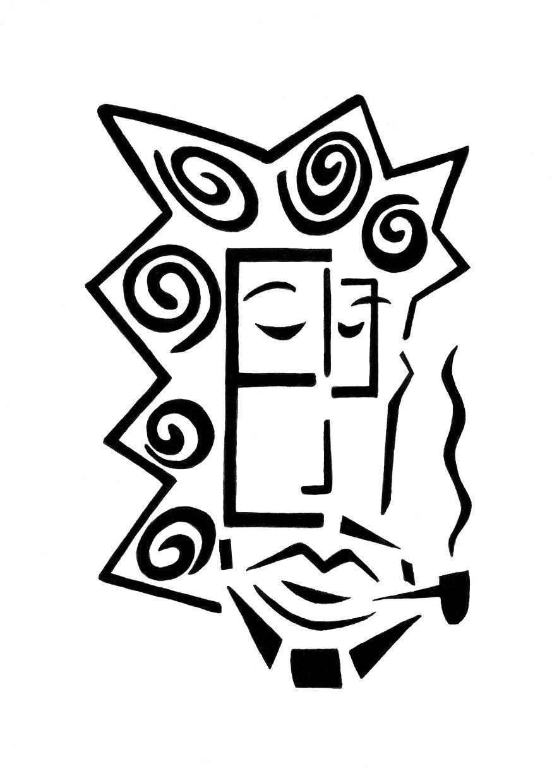 The Letter E (Pipe Smoker)