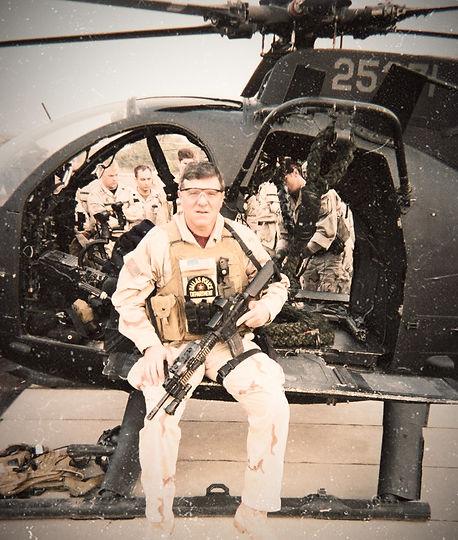 Chief Coker in Iraq conducting fast-rope training