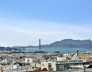Stunning unobstructed view of the Presidio and Golden Gate Bridge