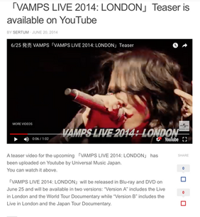 Vamps Live 2014