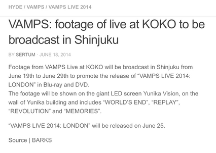 Vamps live at Koko