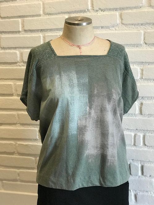 Blusa Reta verde  MM52
