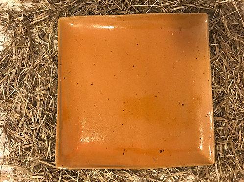 Prato grande quadrado esmalte Jujuba