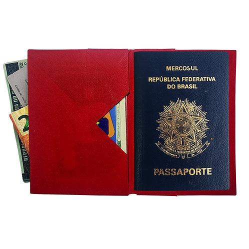 Porta Passaporte Vermelho_Liso MM74