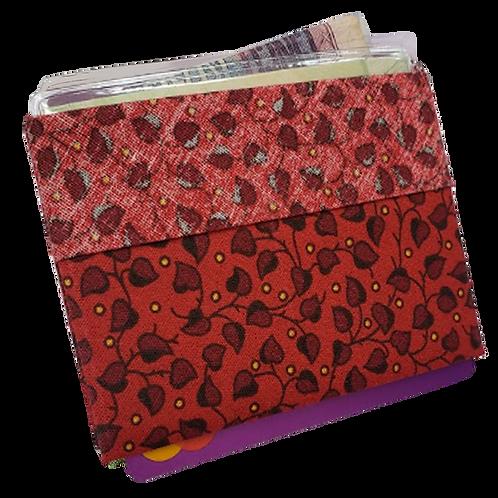 Carteira Vermelha_Folhas MM74