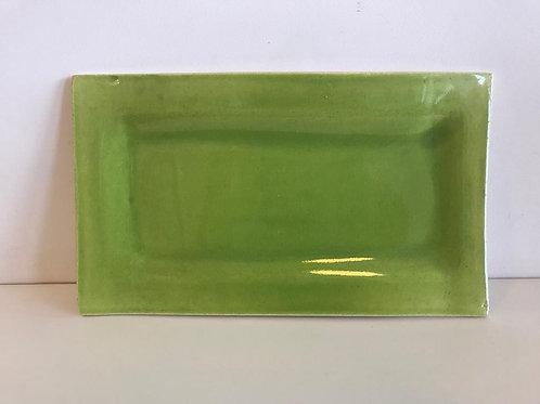 Prato retangular esmalte Limão