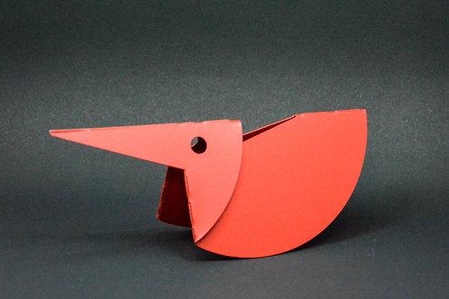 Escultura  Martim Pescador em aço carbono MM67