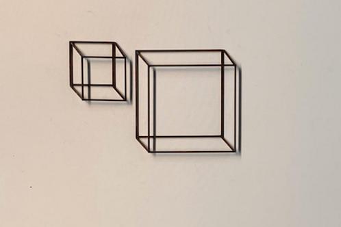 Escultura de parede conjunto 2 peças  Tridimensional - 005