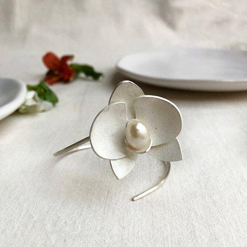 Bracelete Botânica Orquídea Média  MM81