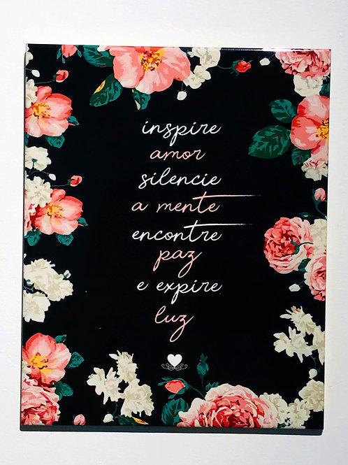 AZULEJO  FRASE INSPIRE AMOR