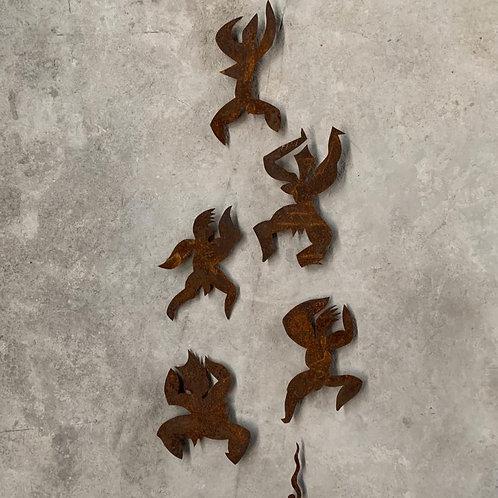 Escultura de parede conjunto 5 Anjos - 0026