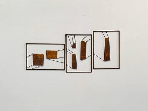 Escultura de parede conjunto 3 peças  - 0019