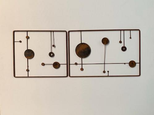Escultura de parede - Conjunto 2 peças - 003