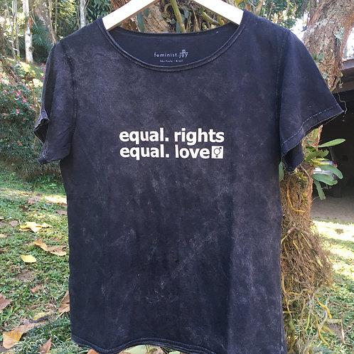 Camiseta equal.rights estonada cinza MM69