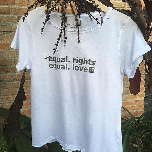 Camiseta equal.rights branca MM69