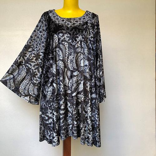 Vestido Trapézio Oriental MM98