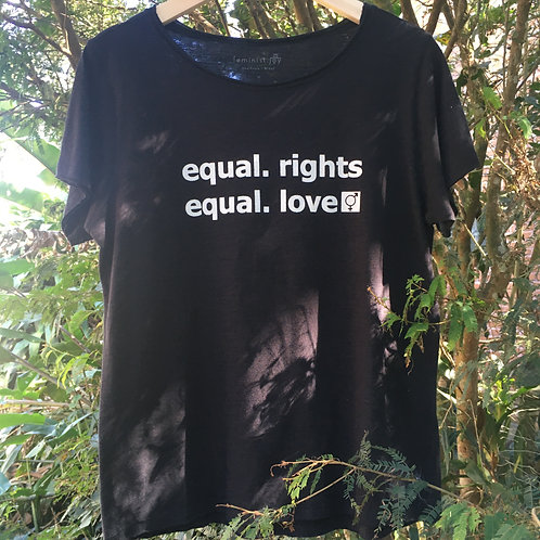 Camiseta equal.rights preta MM69